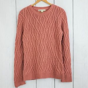 ANTHROPOLOGIE Kaisley sz Large Cable Knit Sweater